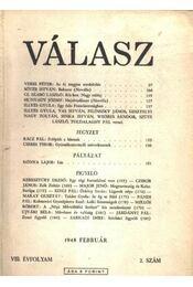 Válasz 1948. február VIII. évfolyam 2. szám - Régikönyvek