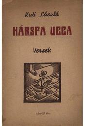Hársfa ucca (dedikált) - Régikönyvek