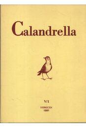Calandrella 1991. V./1. - Régikönyvek