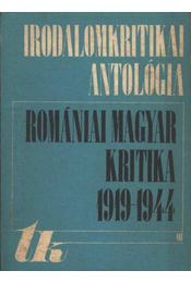 Romániai magyar kritika 1919-1944 - Régikönyvek