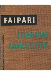 Faipari szakmai ismeretek - Régikönyvek