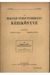 atirni - A magyar nyelv latin jövevényszavai - Régikönyvek