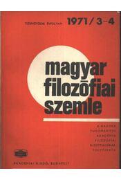 Magyar filozófiai szemle 1971/3-4. - Régikönyvek