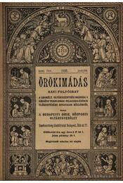 Örökimádás 1931-1932. (2évfolyam) - Régikönyvek