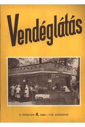 Vendéglátás II. évfolyam 4. szám 1958. augusztus - Régikönyvek