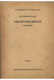 Oktatáselmélet - Régikönyvek