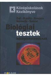 Biológiai tesztek középiskolásoknak - Régikönyvek