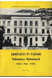 Erdészeti és faipari Tudományos közlemények 1984. év 1-2. sz. - Régikönyvek