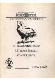 II. magyarországi rétisasvédelmi konferencia 1995. 1. szám - Régikönyvek