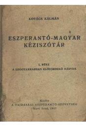 Eszperantó-magyar kéziszótár - Régikönyvek