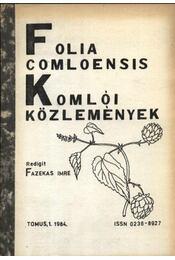 Folia Comloensis - Komlói Közlemények 1984/1 - Régikönyvek