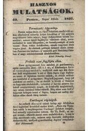 Hasznos mulatságok 1837/42. szám - Régikönyvek