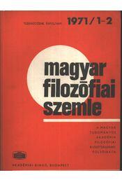 Magyar filozófiai szemle 1971/1-2. - Régikönyvek