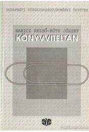 Könyvviteltan - Régikönyvek