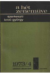 A hét zeneműve 1973/4 - Régikönyvek