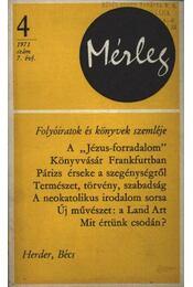Mérleg 1971/4 - Régikönyvek