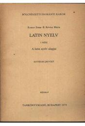 Latin nyelv I. rész - Régikönyvek