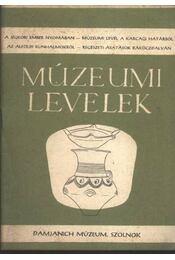 Múzeumi levelek 6.sz. - Régikönyvek