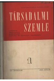 Társadalmi Szemle 1959. jan. - szept. - Régikönyvek