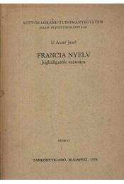 Francia nyelv joghallgatók számára - Régikönyvek