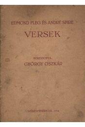 Edmond Fleg és André Spire versek (dedikált) - Régikönyvek