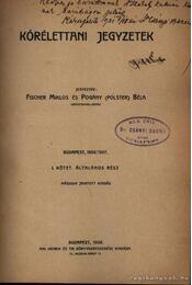 Kórélettani jegyzetek - Régikönyvek