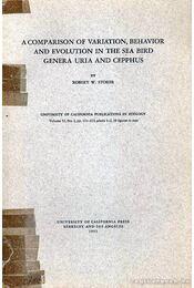 A Comparison of Variation, Behavior and Evolution in the Sea Bird Genera Uria and Cepphus (A tengeri madarak a Genera Uria és a Cepphus összehasonlítása keveredés, viselkedés, és evolúciós fejlődés szempontjából) - Régikönyvek