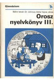 Orosz nyelvkönyv III. - Régikönyvek