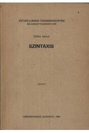 Szintaxis - Régikönyvek