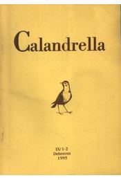 Calandrella 1995. IX/1-2. - Régikönyvek