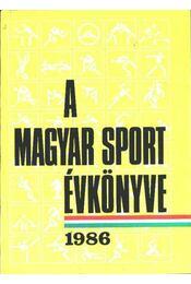 A magyar sport évkönyve 1986 - Régikönyvek