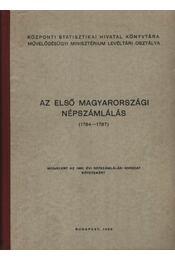 Az első magyarországi népszámlálás (1784-1787). - Régikönyvek