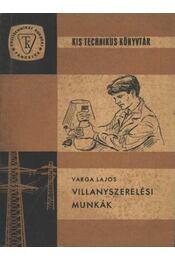 Villanyszerelési munkák - Régikönyvek