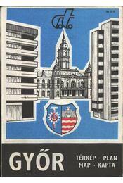 Győr térkép - Régikönyvek