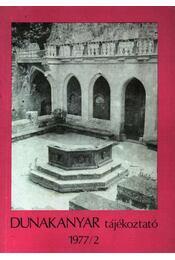 Dunakanyar tájékoztató 1977/2. - Régikönyvek