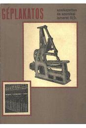 Géplakatos szerkezettan és szerelési ismeret III/b - Régikönyvek