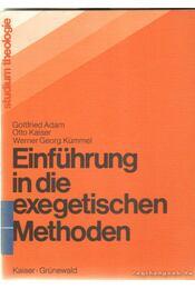 Einführung in die exegetischen Methoden - Régikönyvek
