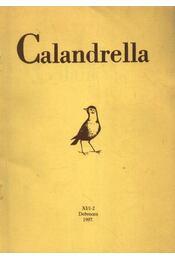 Calandrella 1997. XI/1-2. - Régikönyvek