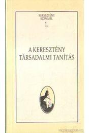 A keresztény társadalmi tanítás - Régikönyvek