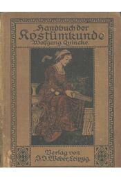 Handbuch der kostümkunde - Régikönyvek
