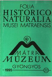 Mátra Múzeum, Gyöngyös 1995. 20. - Régikönyvek