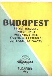 Budapest belső területe térkép - Régikönyvek