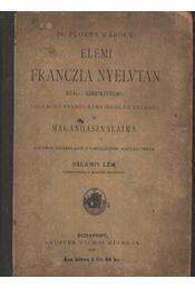 Elemi franczia nyelvtan - Régikönyvek