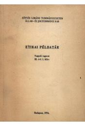 Etikai példatár - Régikönyvek
