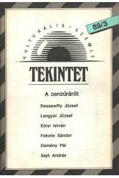 Tekintet 1989/3 - Régikönyvek