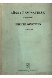 Könnyű szonatinák zongorára - Régikönyvek