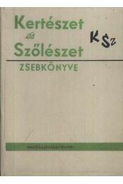 Kertészet és Szőlészet zsebkönyve - Régikönyvek