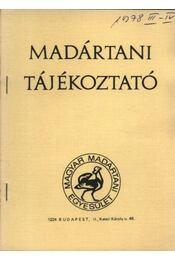 Madártani tájékoztató 1978. március-április - Régikönyvek