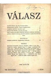 Válasz 1948. január VIII. évfolyam 1. szám - Régikönyvek