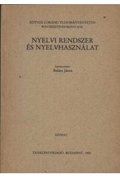 Nyelvi rendszer és nyelvhasználat - Régikönyvek